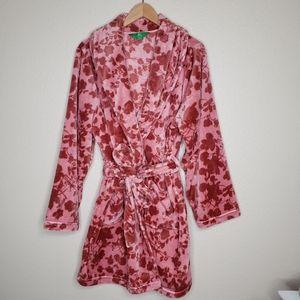 Dip Mauve Rose Chalet Fleece Short Robe Size LG